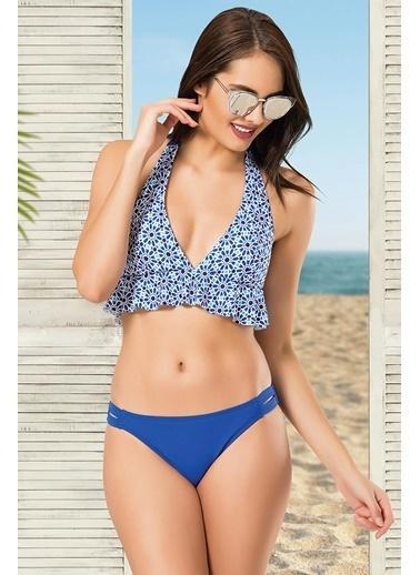Nbb Fırfırlı Kapsız Bikini Takımı Renkli